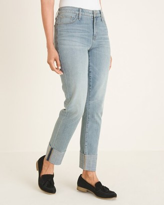 So Slimming Cuffed Girlfriend Ankle Jeans