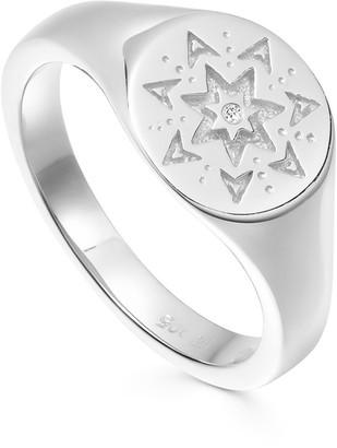 Missoma Silver Star Struck Signet Ring