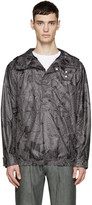 Helmut Lang Black and White Labyrinth Anorak Jacket
