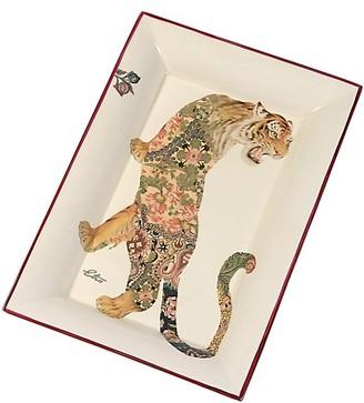 Etro Shere Khan Tiger Ceramic Rectangular Tray