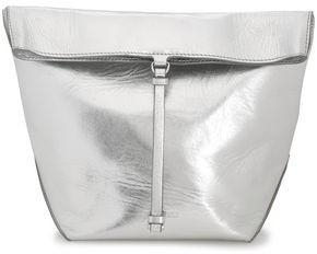 Jil Sander Metallic Textured-leather Clutch