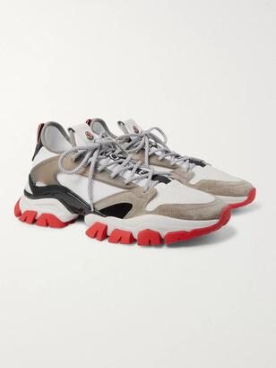 Moncler Trevor Suede, Mesh And Neoprene Sneakers