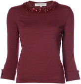 Carolina Herrera sequin detail knitted top