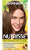 Garnier Nutrisse Nourishing Color Creme, 61 Light Ash Brown (Mochaccino) (Packaging May Vary)