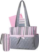 Pink Stripe 5-in-1 Diaper Tote Bag