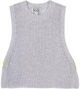 Barneys New York Cotton Sleeveless Sweater