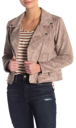 Blank NYC BLANKNYC Denim Faux Suede Moto Jacket