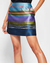Ted Baker Striped jacquard mini skirt