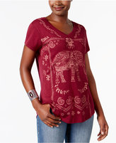Style&Co. Style & Co Petite Graphic Top, Only at Macy's