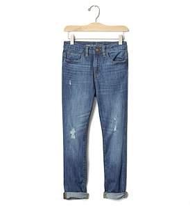 Gap 1969 Destructed Stretch Girlfriend Jeans