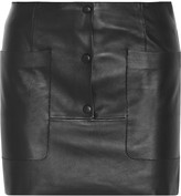 Acne Studios Koby leather mini skirt
