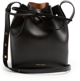 Mansur Gavriel Mini Mini Bucket nude-lined leather bag