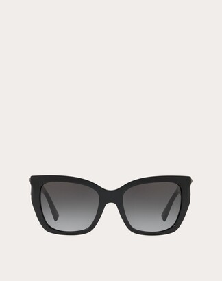 Valentino Square Acetate Sunglasses With Studs Women Light Pink OneSize