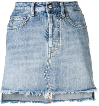 Marcelo Burlon County of Milan Vintage Denim Skirt