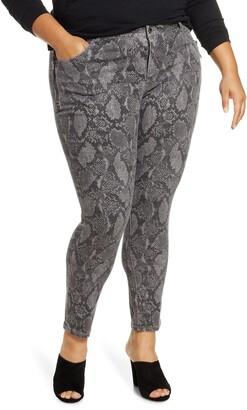 Wit & Wisdom Ab-Solution Snake Print Side Zip Ankle Skinny Jeans