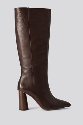 MANGO Wood Boots