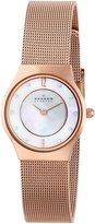 Skagen Women's Classic 233XSRR Mother-Of-Pearl Rose-Gold Quartz Watch