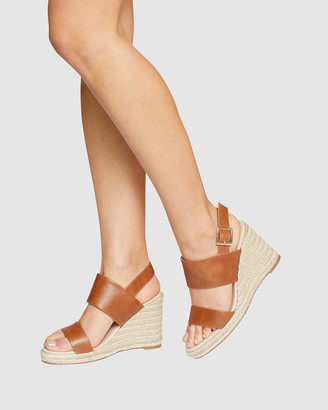 Jane Debster - Women's Brown Wedge Sandals - Dice - Size One Size, 37 at The Iconic