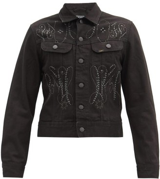 Stefan Cooke - X Lee Studded Denim Jacket - Black