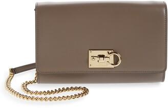 Salvatore Ferragamo The Studio Leather Wallet on a Chain