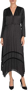 The Kooples Tete d'Epingle Polka Dot Maxi Dress