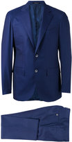 Corneliani notched lapel two-piece suit - men - Cupro/Virgin Wool - 48