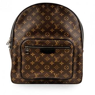 Louis Vuitton Josh Backpack Brown Cloth Bags