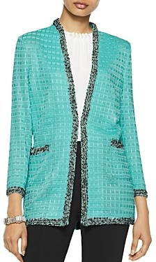 Misook Textured Kiss-Front Jacket