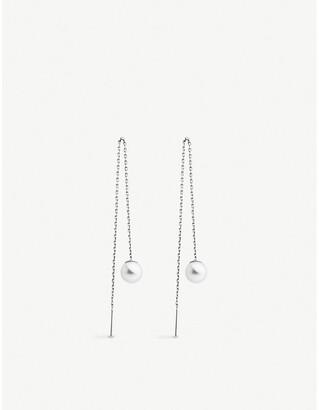 Selfridges Redline Sensuelle 18ct white-gold and pearl chain earrings