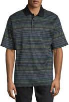 Bugatchi Striped Cotton Polo Shirt