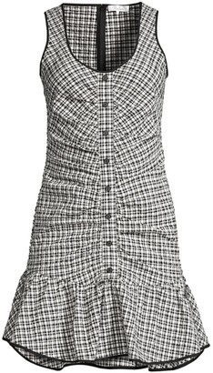 Parker Sleeveless Drop Waist Check Dress