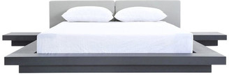 VIG Furniture Modrest Opal Modern Wenge and Gray Platform Bed, Queen