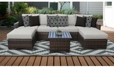 Kathy Ireland Homes & Gardens By Tk Classics River Brook 7 Piece Sectional Seating Group with Cushion Homes & Gardens by TK Classics