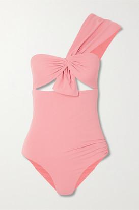 Marysia Swim Venice One-shoulder Cutout Swimsuit - Coral
