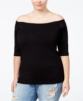 Rachel Roy Curvy Trendy Plus Size Off-The-Shoulder Sweater
