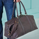 NV London Calcutta Anthony Handmade Leather Weekend Holdall