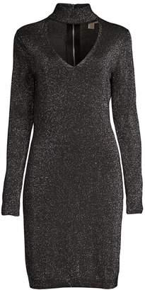 MICHAEL Michael Kors Glitter Choker Sweater Dress