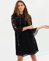 Whistles Amira Embroidered Shirt Dress