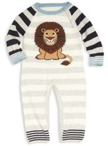 Lucky Jade Baby's Cotton & Cashmere Lion Striped Coverall