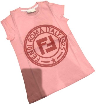 Fendi Pink Cotton Tops