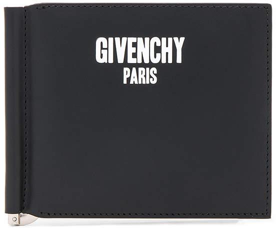Givenchy Paris Print On Money Clip Wallet