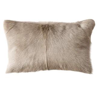 OKA Chyangra Goat Hair Cushion Cover - Silver
