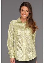 Roper 8694 Shiny Cheetah Print Shirt (Green) - Apparel