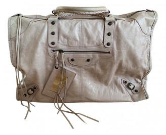 Balenciaga Weekender Pink Leather Travel bags