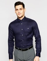 Ted Baker Linen Shirt In Slim Fit
