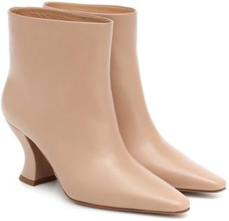 Bottega Veneta Almond leather ankle boots