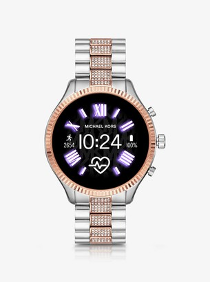 Michael Kors Gen 5 Lexington Pave Two-Tone Smartwatch