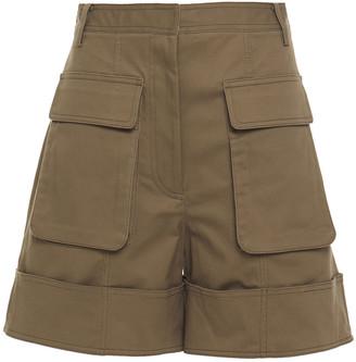 Tibi Cotton-blend Twill Shorts