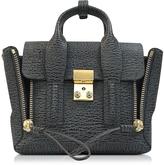 3.1 Phillip Lim Pashli Ash and Charcoal Leather Mini Satchel