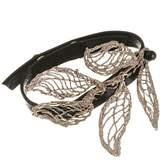 Black Electra Bronze and Leather Bracelet
